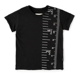 Nununu Black Measuring Tape Short Sleeve Tee